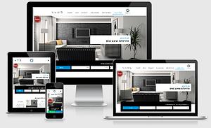 צילום מסך של אתר מוכן עם טאצ' אישי: דוגמה עבור אתר לאדריכלית